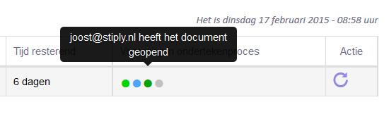 De klant heeft een herinnering gehad (die mail is ook ontvangen), maar hij heeft het document geopend via een link uit een oude e-mail